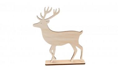 Dekoracja świąteczna 3D, stojąca, renifer