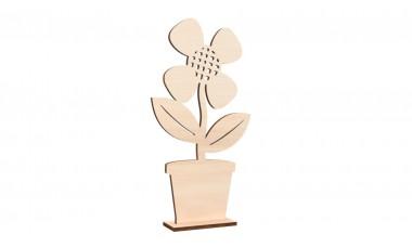 Dekoracja stojąca kwiatek w doniczce