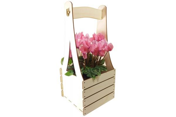 Dekoracja stojąca: skrzynka na kwiatka, zioła z dedykacją lub bez