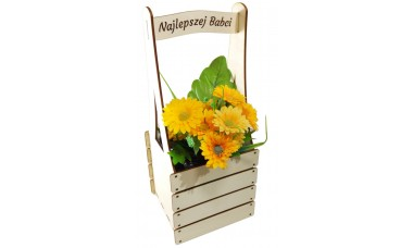 Skrzynka na kwiatka, zioła z dedykacją