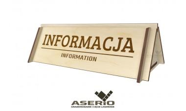 Tabliczka informacyjna INFORMACJA na konferencje, targi, eventy, zawody