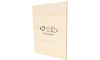 Walentynkowa kartka z grawerunkiem