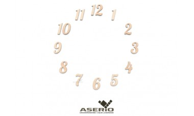 Cyfry zegara 1-12 różne rozmiary ze sklejki hdf lub tektury