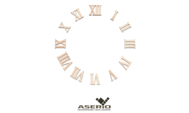 Cyfry zegara rzymskie różne rozmiary ze sklejki hdf lub tektury