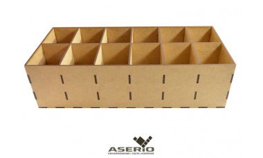 Organizer na skarpetki lub przybory biurowe 360x150x100 [mm] 12 przegródek