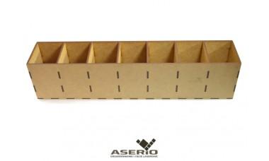Organizer na skarpetki lub przybory biurowe 420x75x100 [mm] 7 przegródek
