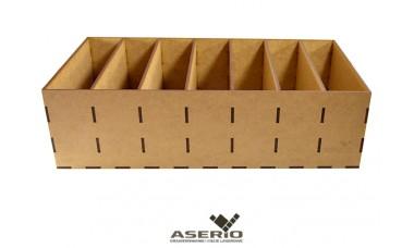 Organizer na majtki bokserki lub przybory biurowe 360x194x100 [mm] 7 przegródek