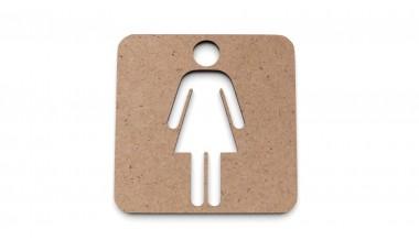 Znaczek: Toaleta damska, WC damski