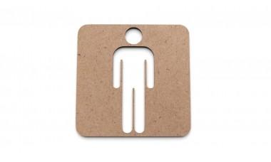 Znaczek: Toaleta męska, WC męski