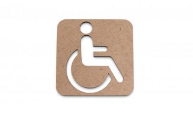 Znaczek: Toaleta, WC dla niepełnosprawnych