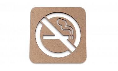 Znaczek na ścianę lub drzwi: Zakaz palenia