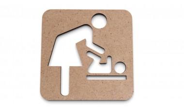 Znaczek na ścianę lub drzwi: Przewijak