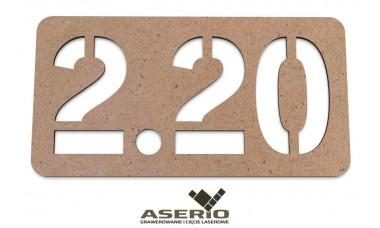 Znaczek na ścianę lub drzwi: Numerek 3-cyfrowy z separatorem EKO
