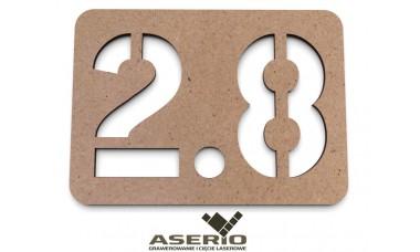 Znaczek na ścianę lub drzwi: Numerek 2-cyfrowy z separatorem EKO