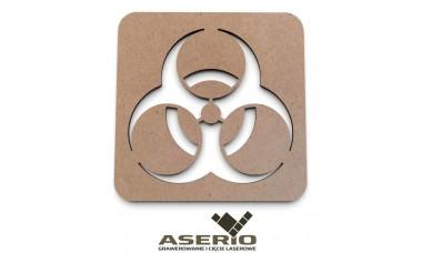 Znaczek na ścianę lub drzwi: zagrożenie biologiczne, biohazard