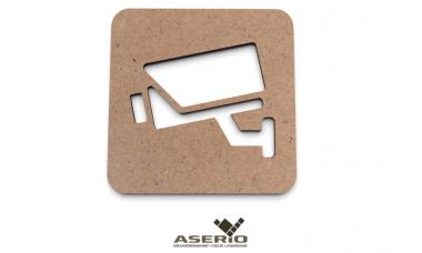 Znaczek na drzwi lub ścianę: Monitoring, Kamera