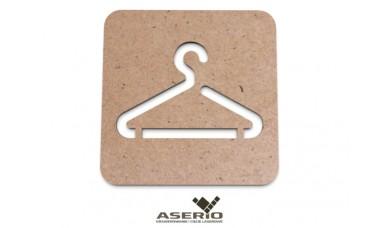 Znaczek na ścianę lub drzwi: Przymierzalnia, przebieralnia