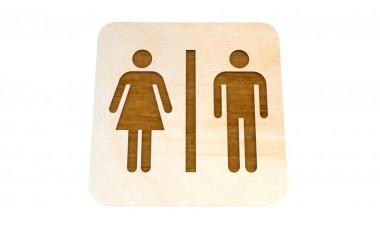 Znaczek: Toaleta, WC grawerowany