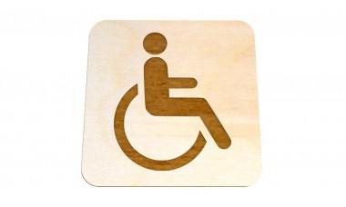 Znaczek: Toaleta, WC dla niepełnosprawnych grawerowany