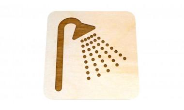 Znaczek: Prysznic grawerowany