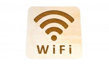 Znaczek: WiFi grawerowany