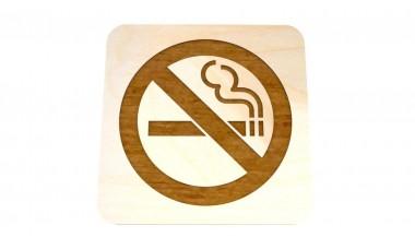 Znaczek: Zakaz palenia grawerowany